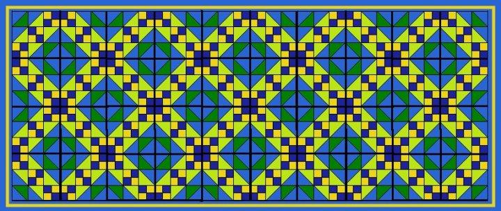 Wandteppich, vorwiegendblau