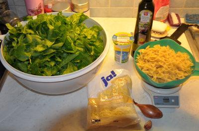 Rezept Spinat-Käsenudeln