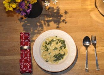 Spinat-Käse-Nudeln