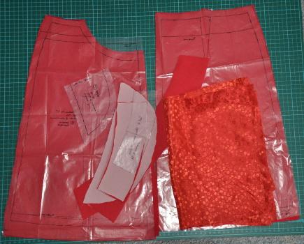 rote Mandarine zugeschnitten